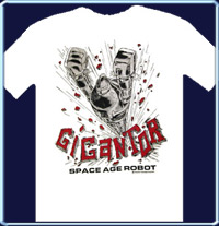 Gigantor 302 Space Age Robot White T-Shirt